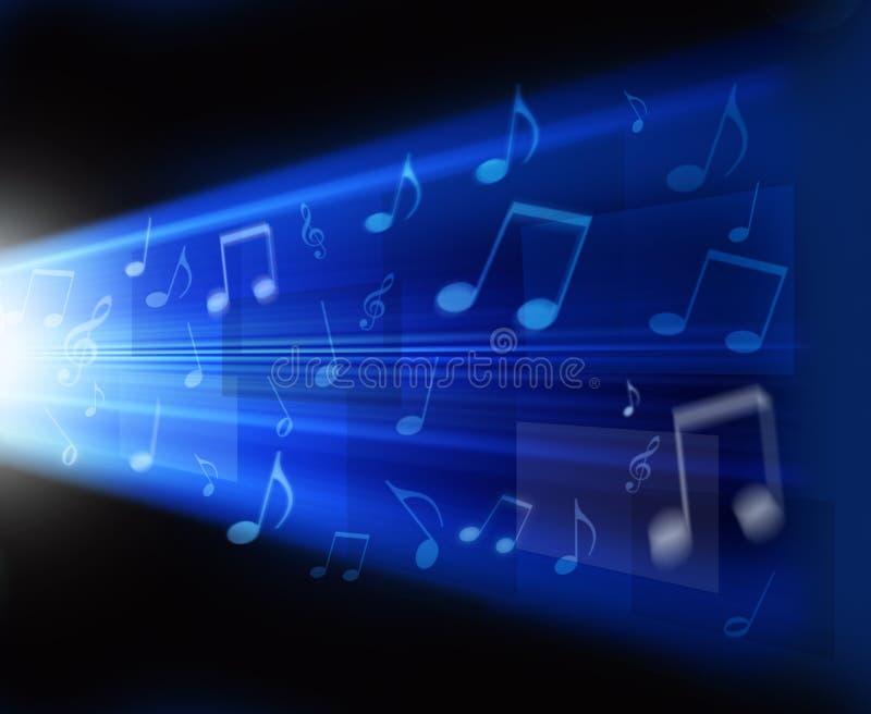 Abstrakter Musik-Hintergrund lizenzfreie abbildung