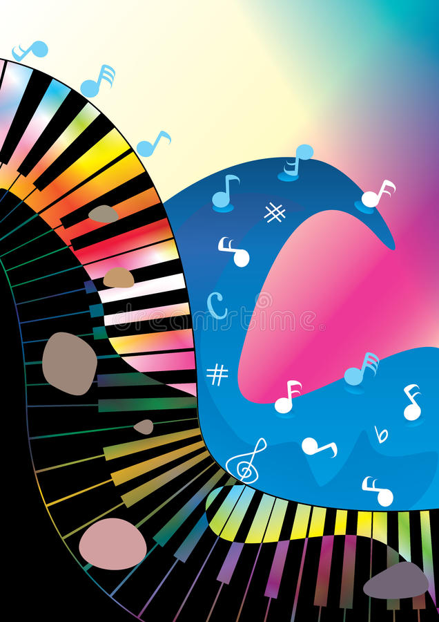 Abstrakter Musik-Ozean-Rock-and-Roll stock abbildung