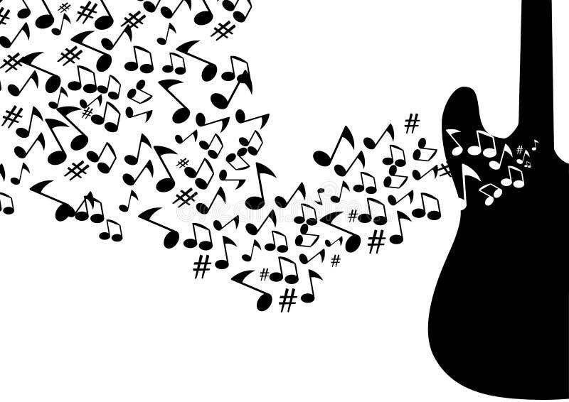 Abstrakter musikalischer Hintergrund lizenzfreie abbildung