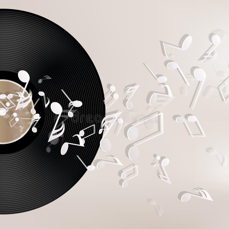 Abstrakter musikalischer Hintergrund vektor abbildung