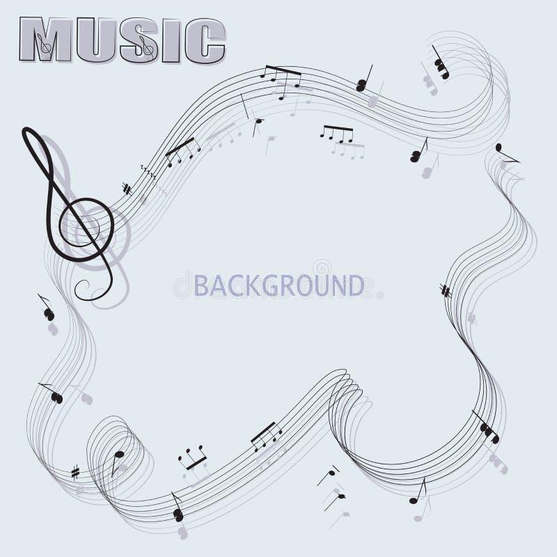 Abstrakter musikalischer Hintergrund und das Wort MUSIK stock abbildung