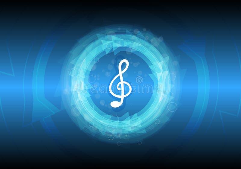 Abstrakter Musikanmerkungshintergrund vektor abbildung