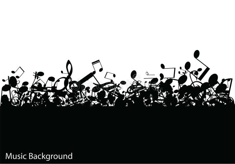 Abstrakter Musikhintergrund mit Anmerkungen,  stock abbildung