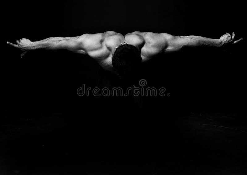 Abstrakter muskulöser Bodybuilder stockbild