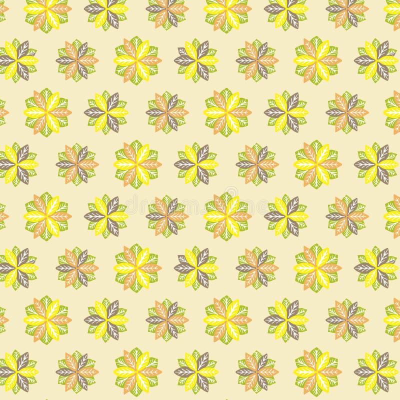 Download Abstrakter Musterherbst stock abbildung. Illustration von blumenblätter - 96927534