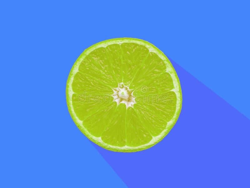 Abstrakter Musterhintergrund, grüne Kalkscheiben auf blauem backgroud stockbild