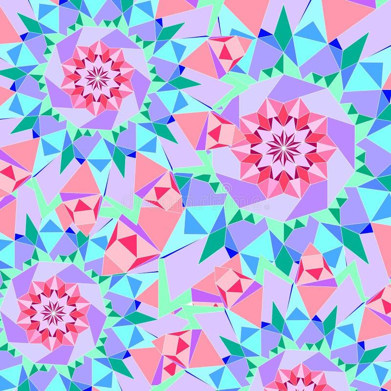Abstrakter nahtloser bunter Muster Ornamentalhintergrund stockfoto