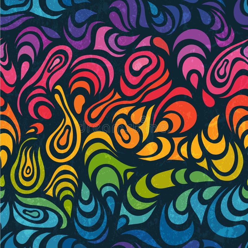 Abstrakter nahtloser Hintergrund in den Regenbogenfarben lizenzfreie abbildung