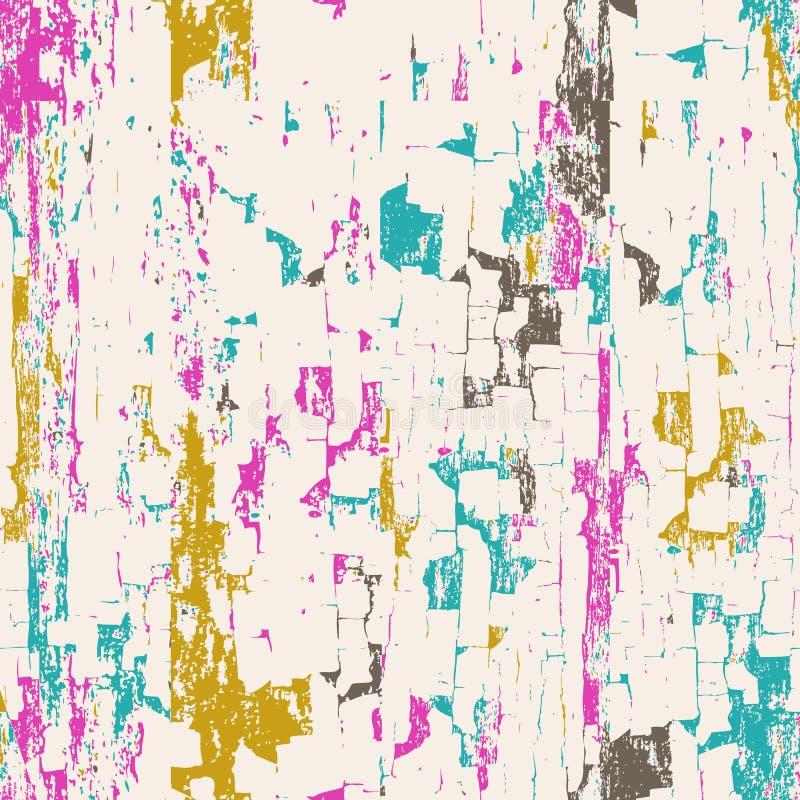 Abstrakter nahtloser Hintergrund des Vektors Gemalte weiße hölzerne Wand lizenzfreie abbildung