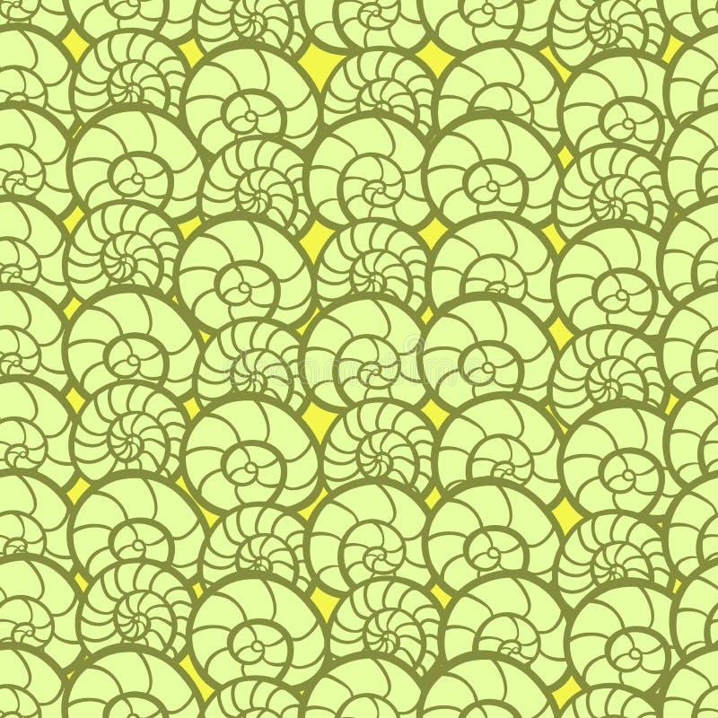 Abstrakter nahtloser Hintergrund mit Shells stock abbildung