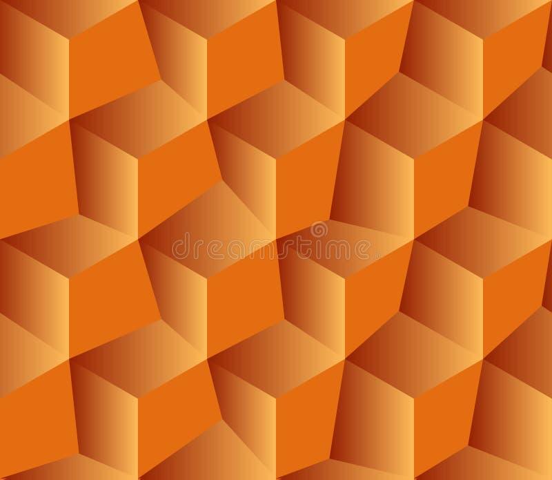 Abstrakter nahtloser Hintergrund mit Würfeldekoration lizenzfreie abbildung