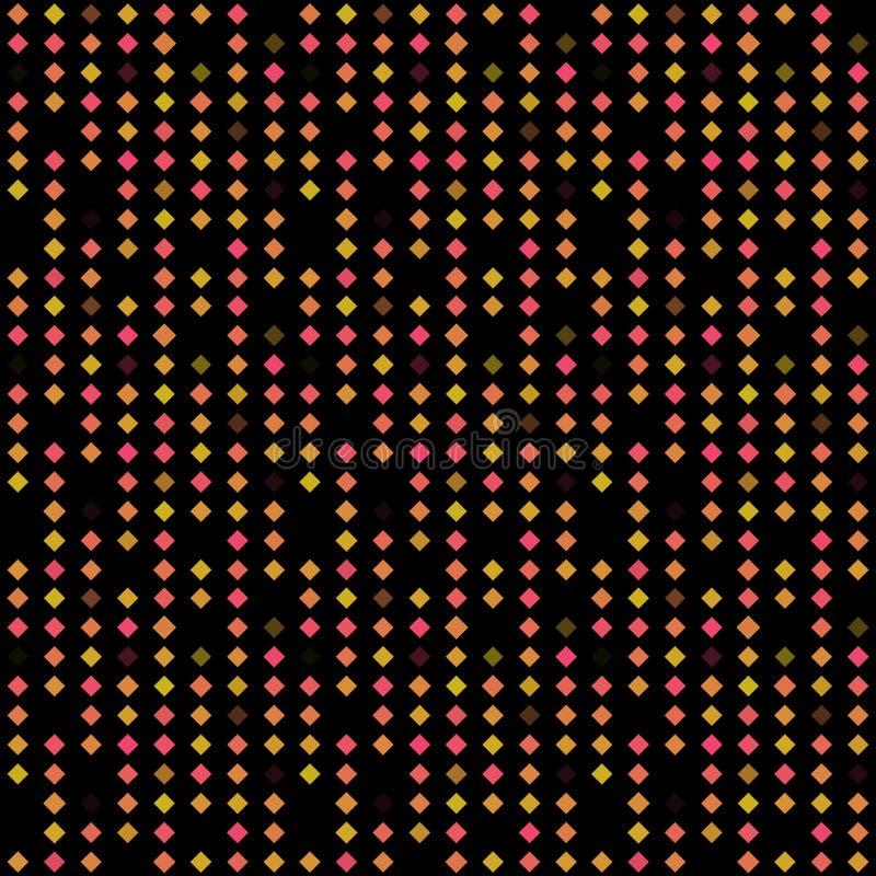 Abstrakter nahtloser Musterhintergrund mit mehrfarbigen verschiedenen Rauten lizenzfreie abbildung