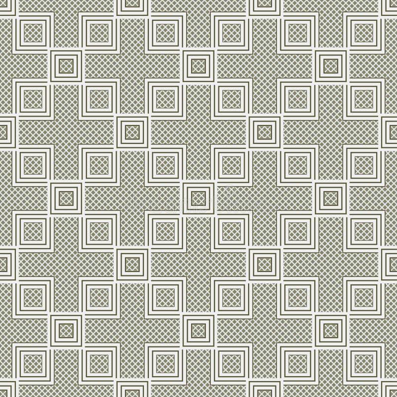 Abstrakter nahtloser Musterhintergrund Wiederholen der geometrischen Beschaffenheit lizenzfreie abbildung