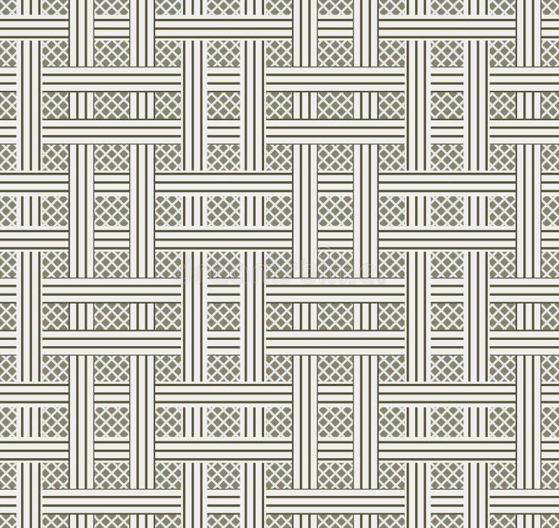 Abstrakter nahtloser Musterhintergrund Wiederholen der geometrischen Beschaffenheit stock abbildung