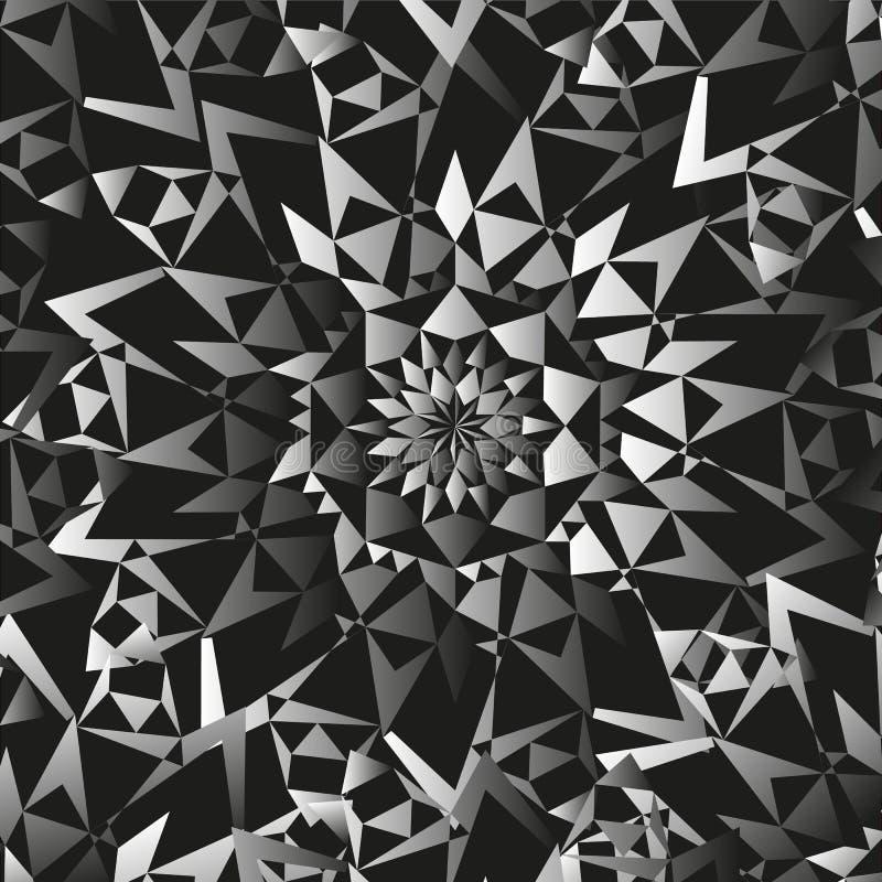 Abstrakter nahtloser weißer schwarzer Muster Ornamentalhintergrund lizenzfreie stockfotografie