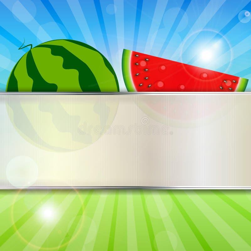Abstrakter natürlicher Sommer-Hintergrund mit stock abbildung