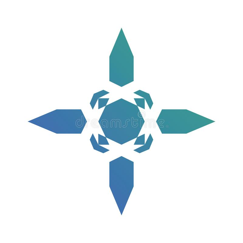 Abstrakter Natur-Pfeil-Logovektor stock abbildung