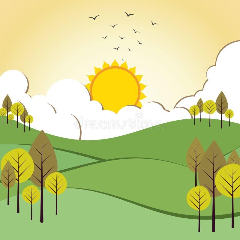 Download Abstrakter Naturhintergrund Vektor Abbildung - Illustration von abbildung, herbst: 27725297