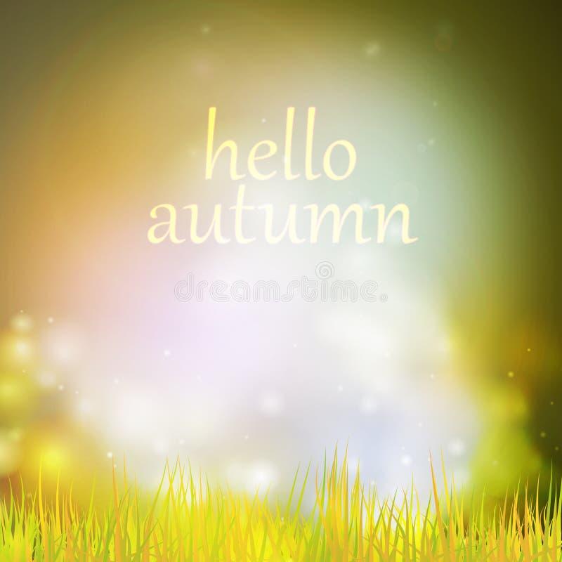 Abstrakter Naturhintergrund des Herbstes oder des Sommers stock abbildung