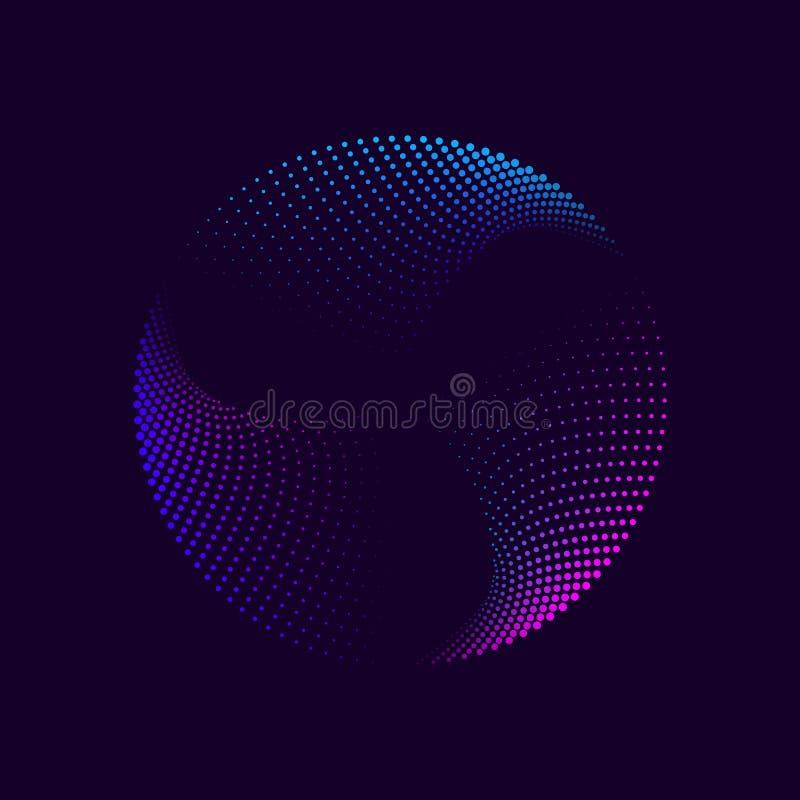 Abstrakter Neonkreis lizenzfreies stockfoto
