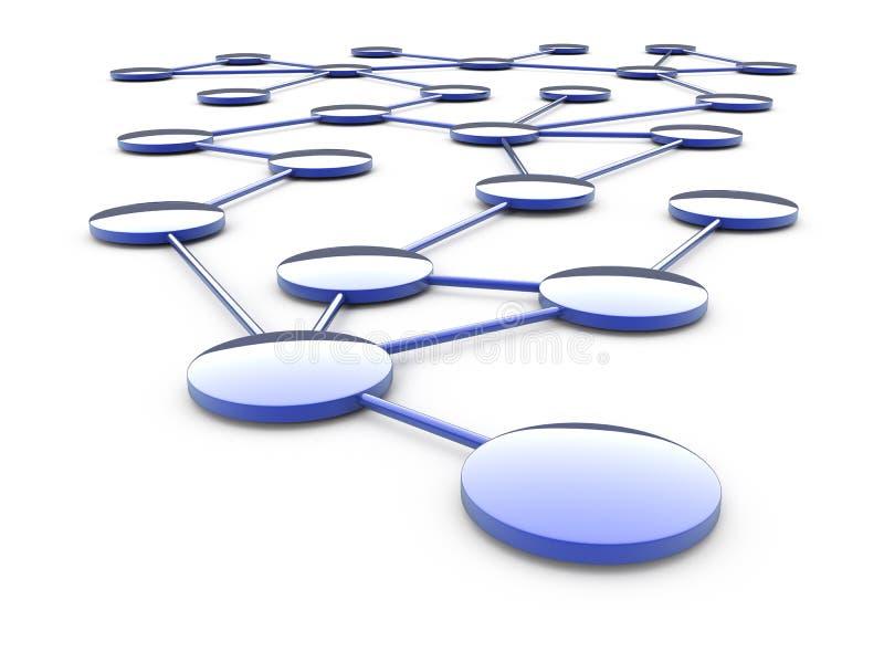 Abstrakter Netzentwurf lizenzfreie abbildung