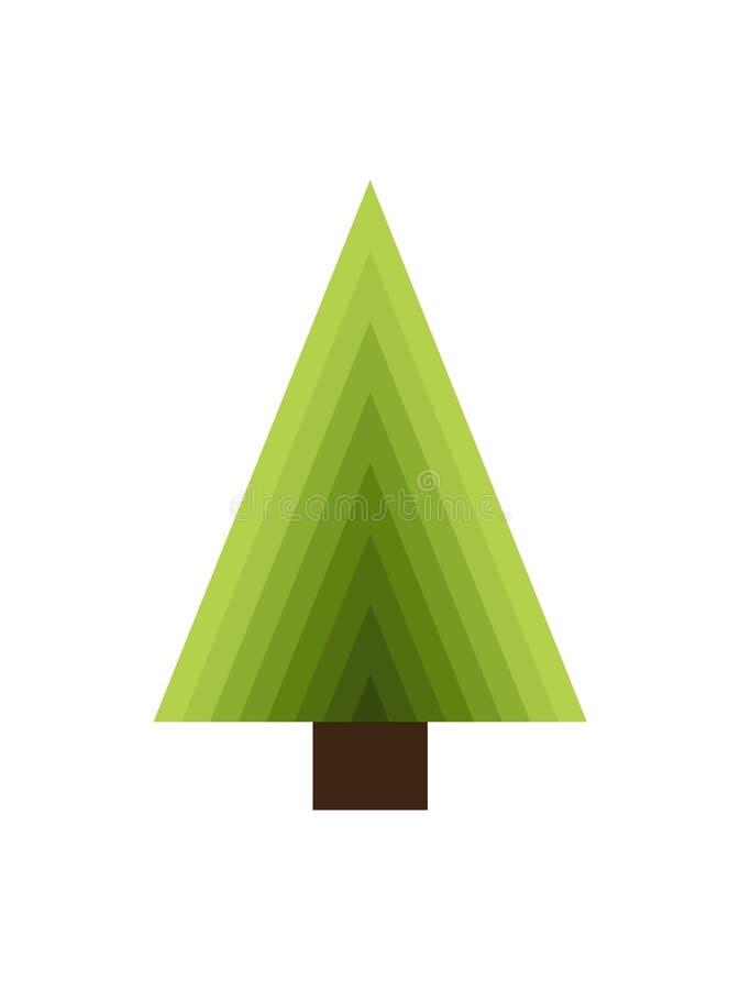 Abstrakter neues Jahr-Baum gemacht von den Dreiecken und vom Stamm vektor abbildung