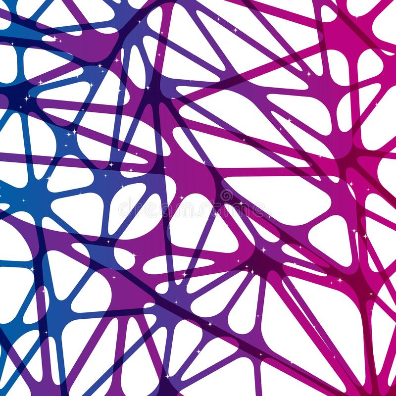 Abstrakter Neuronnetzhintergrund, Grafikdesign digital vektor abbildung