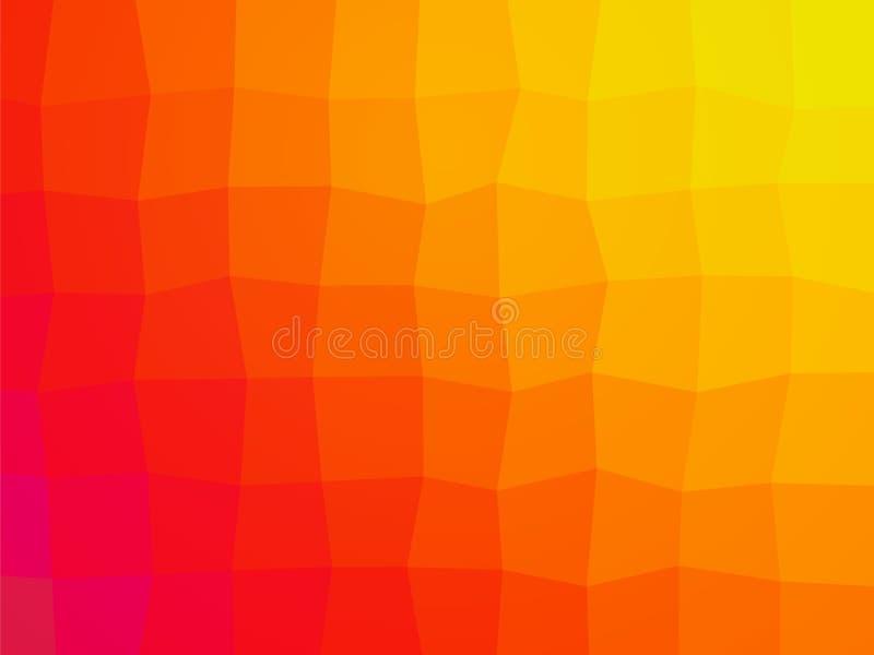 Abstrakter orange Fliesenhintergrund stock abbildung