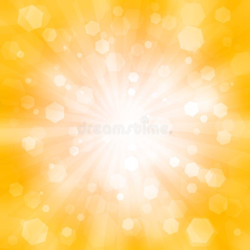 Abstrakter orange Hintergrund mit dem Blinken vektor abbildung
