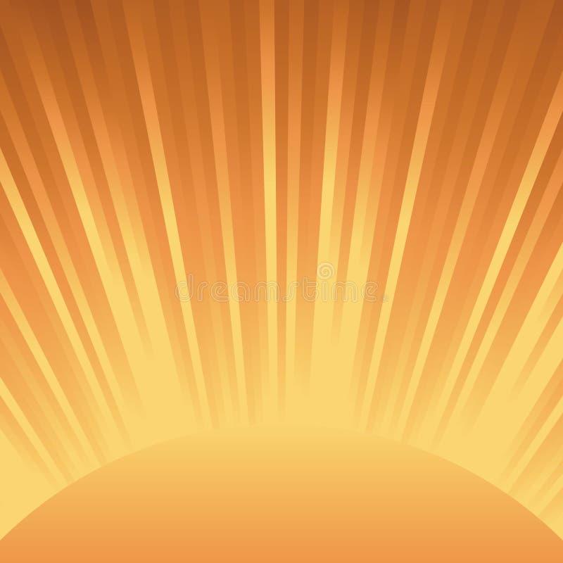 Abstrakter orange Leuchte-Hintergrund vektor abbildung