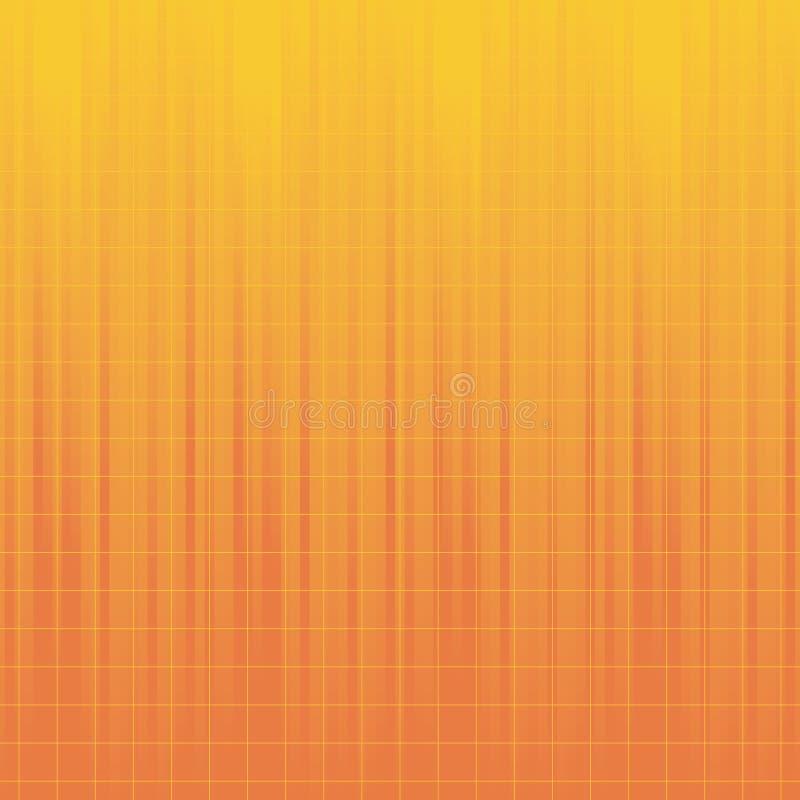 Abstrakter orange Leuchte-Hintergrund - Tileable vektor abbildung