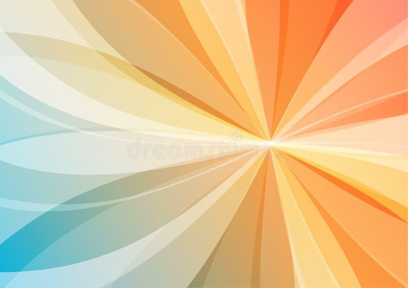 Abstrakter orange und blauer Hintergrund stock abbildung