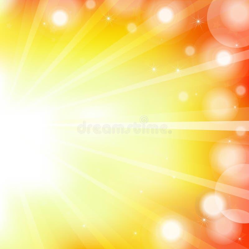 Abstrakter orange vektorhintergrund stock abbildung