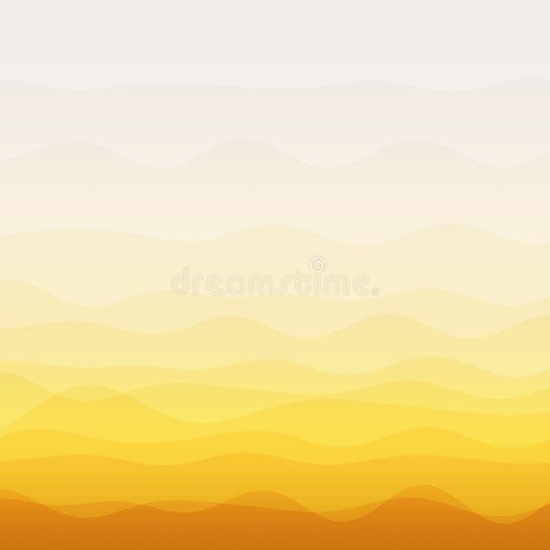 Abstrakter orange Wellenhintergrund lizenzfreie abbildung