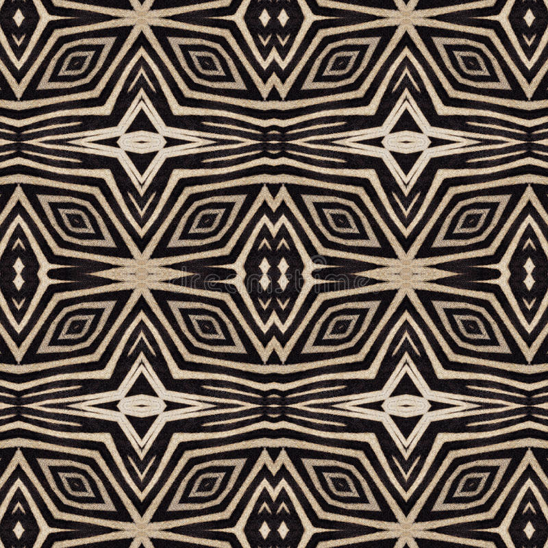 Abstrakter orientalischer nahtloser Hintergrund von Zebrastreifen lizenzfreie abbildung