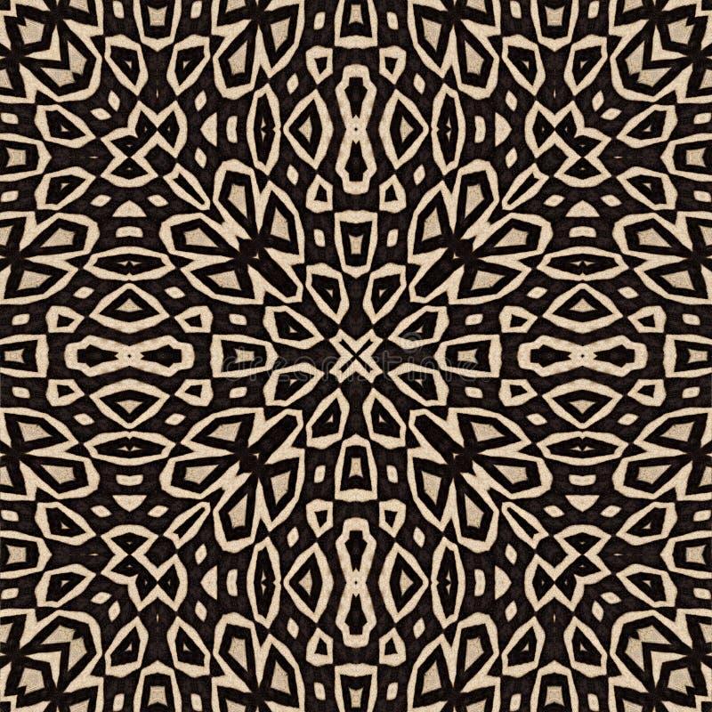 Abstrakter orientalischer nahtloser Hintergrund von Zebrastreifen stock abbildung