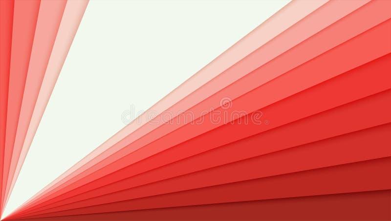 Abstrakter Papierhintergrund mit Steigung, Idee für Fahne Überlagerte bunte Papierformen in Form der Ecke für Karte vektor abbildung