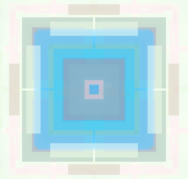 Abstrakter Pastell farbiges geometrisches Quadrat stock abbildung