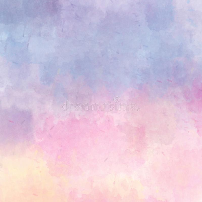 Abstrakter Pastellaquarellhintergrund Buntes Aquarell gemalter Hintergrund Hintergrund, Farbe lizenzfreie stockfotografie
