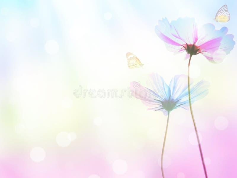 Abstrakter Pastellmit blumenhintergrund mit Kopienraum lizenzfreies stockfoto