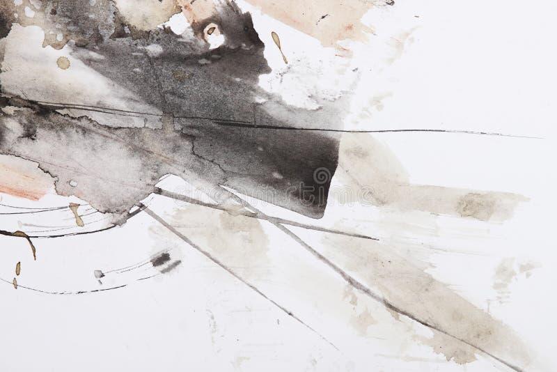 Abstrakter Pinselanstrich lizenzfreie abbildung