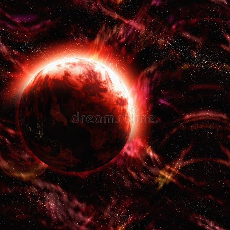 Abstrakter Planet des Weltraumhintergrundes vektor abbildung