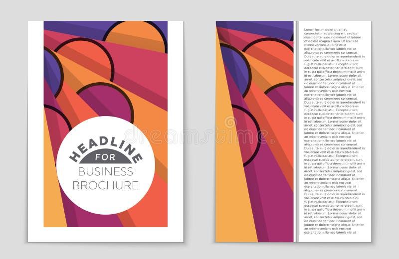Abstrakter Planhintergrundsatz Für Kunstschablonendesign Liste, Titelseite, Modellbroschüren-Themaart, Fahne, Idee, Abdeckung stock abbildung