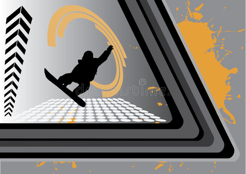 Abstrakter Platz Skateboarding stock abbildung