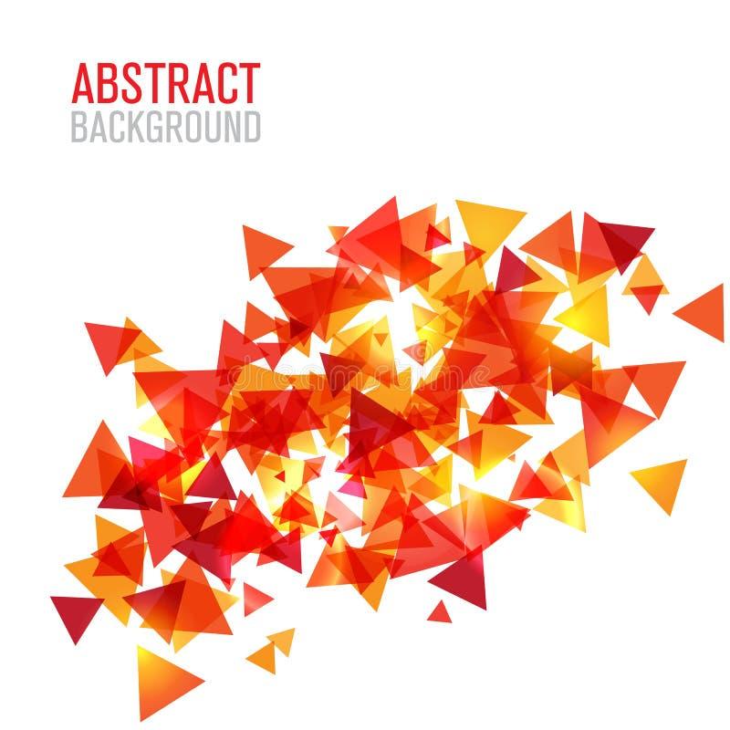Abstrakter poligonal Hintergrund lizenzfreie abbildung