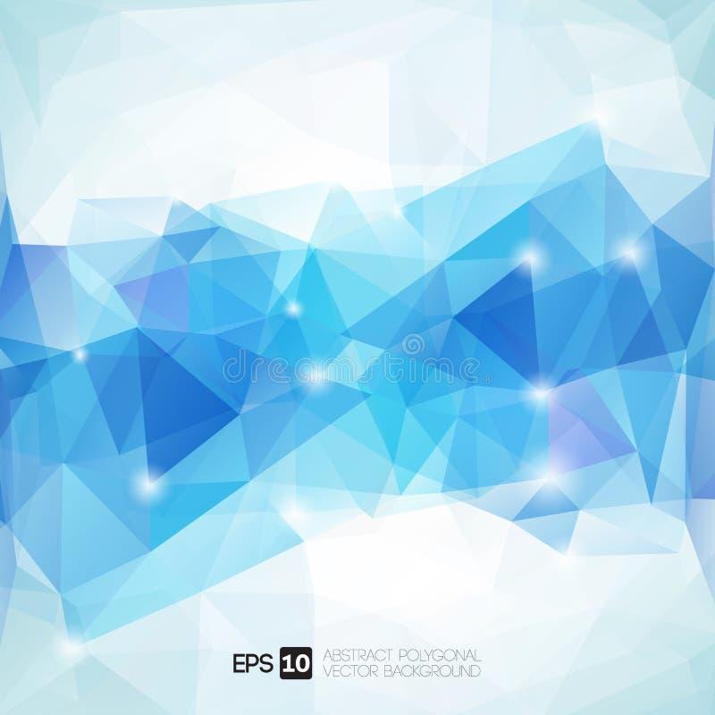 Abstrakter polygonaler geometrischer Hintergrund stock abbildung