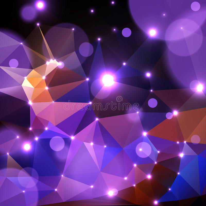 Abstrakter polygonaler Hintergrund vektor abbildung