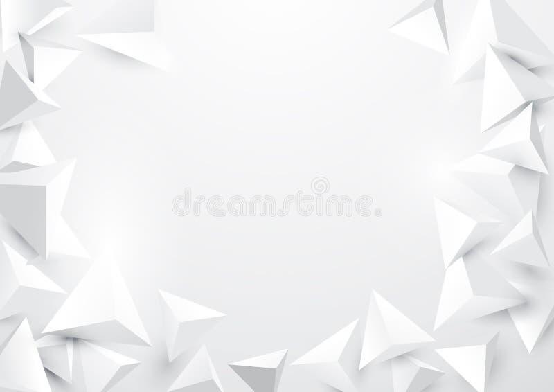 Abstrakter polygonaler Hintergrund der Dreiecke 3d lizenzfreie abbildung