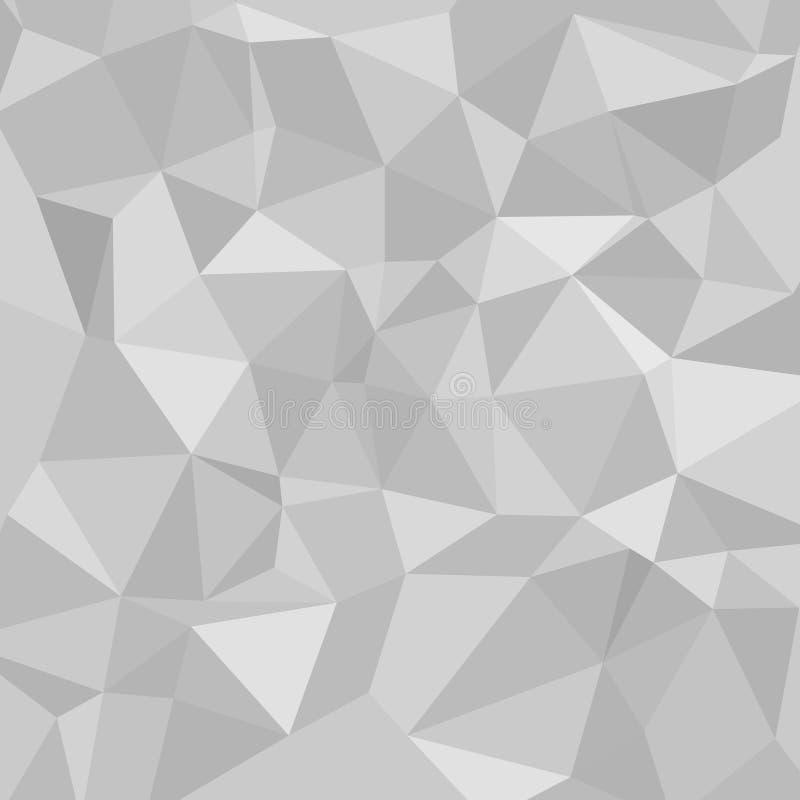 Abstrakter polygonaler Hintergrund des Vektors stock abbildung