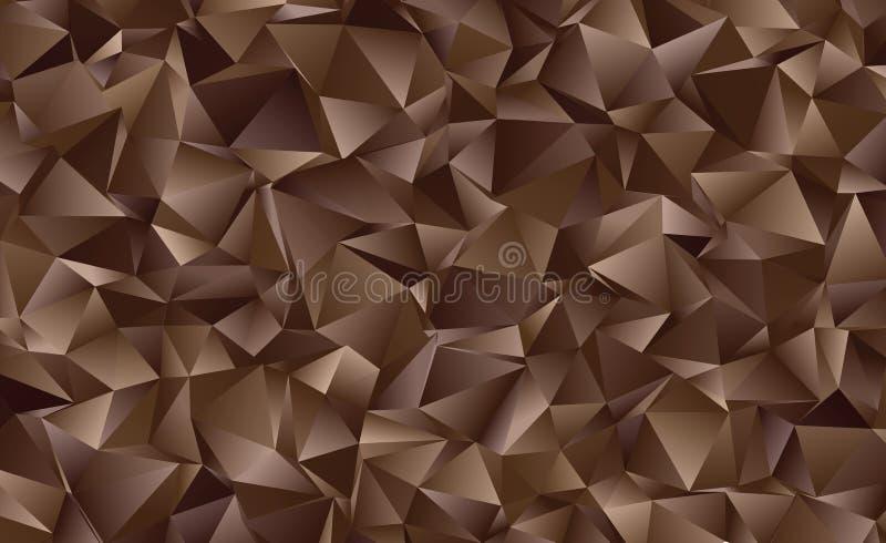 Abstrakter polygonaler Hintergrund des Vektors Kreativer Vektorclipart Grafische Ressource für Ihre Planungsarbeiten lizenzfreie abbildung
